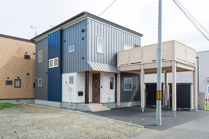 間口の狭い土地にも対応できる都市型のコンパクトな企画型住宅「SOCOCO」。